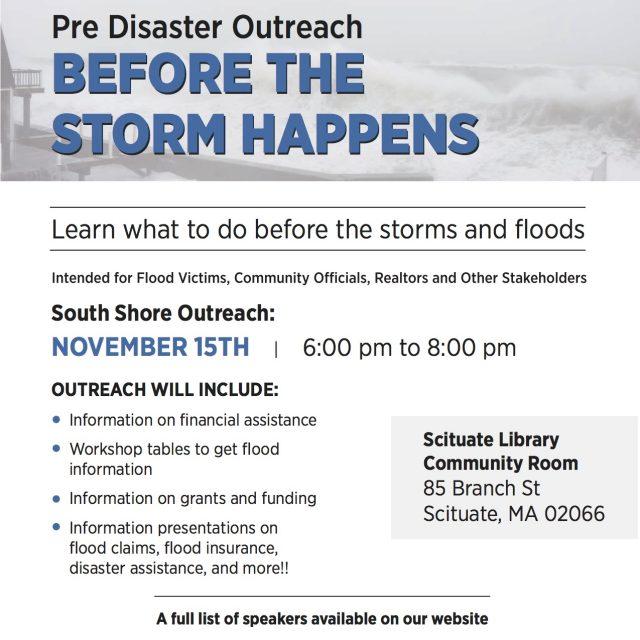 South Shore Pre Disaster Outreach